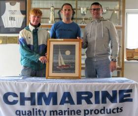 The winning 'Shark' team from left to right Chris Bateman, Charles Dwyer, John Coakley