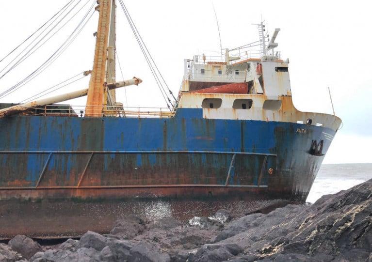 Alta aground on the Cork coast on Sunday 16 February