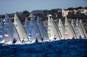 Irish sailors are competing in the 49er, Finn, Laser and 49erFX this morning in Palma