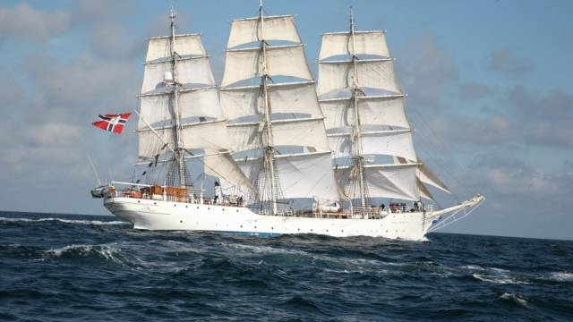 Norwegian tallship, Christian Radich is to remain in Cork for a private visit along the city quays