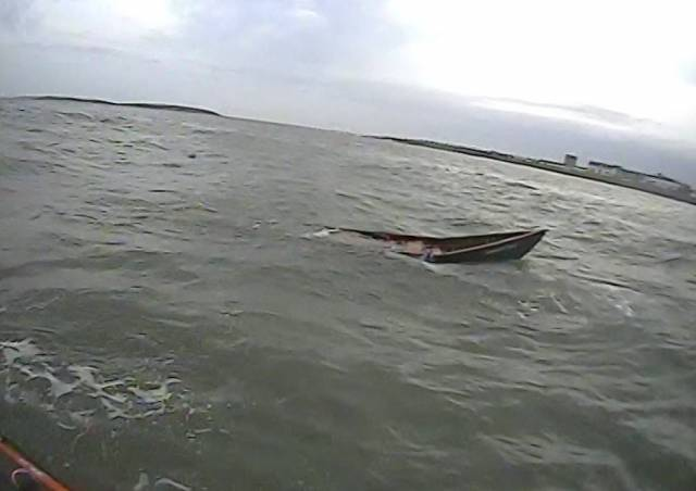 Skerries Lifeboat Tasked To Capsized Currach