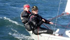 Ex–Topper sailors Edie Thorup and Emma Keane from Blessington Sailing Club, participants in the RS200 Training Camp at the Royal St. George Yacht Club