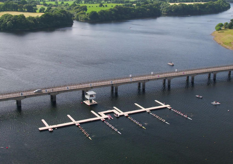 The National Rowing Centre on the River Lee in Ovens, west of Cork city