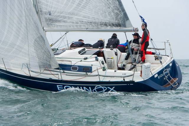 Howth's Equinox (Ross McDonald) at today's first race of the ICRA Nationals. Scroll down for photo gallery.