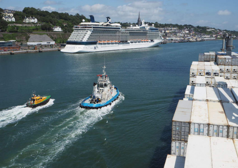 File image of the Port of Cork
