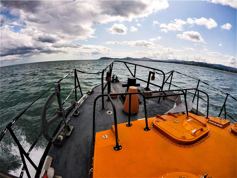 Dun Laoghaire Harbour RNLI Assist Three People on a 35ft Yacht off Dublin Bay