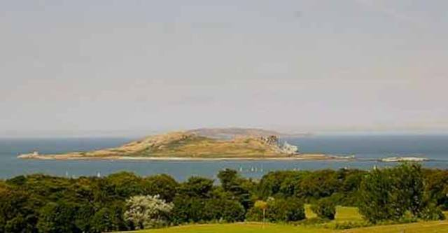 The view northward over Howth towards Ireland's Eye with Lambay beyond