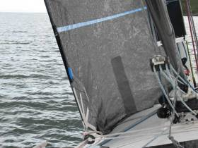 Sail-Sense attaches permanently to the sail, measuring key performance data such as UV, hours of use, G-Force and Flogging (movement).