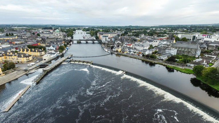 File image Athlone in Co Westmeath, on the Shannon Navigation