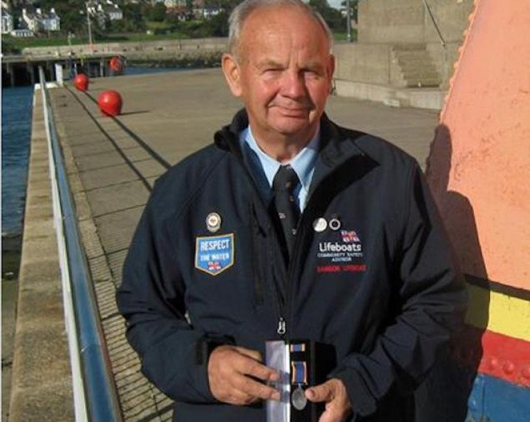 Bangor RNLI's Safety Man Peter Bullick Awarded Long Service Medal