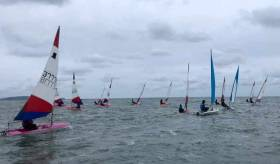 Topper racing in perfect but cold conditions at Ballyholme