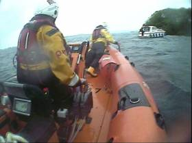 Lough Derg RNLI on a previous launch