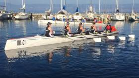 The women's coxed quad from Castletownbere.