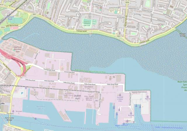 View of the area proposed for land reclamation by Harry Crosbie