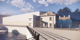 The Town Dock House works will include a complete refurbishment of the existing building and an extension which will provide additional office space and board room facilities.