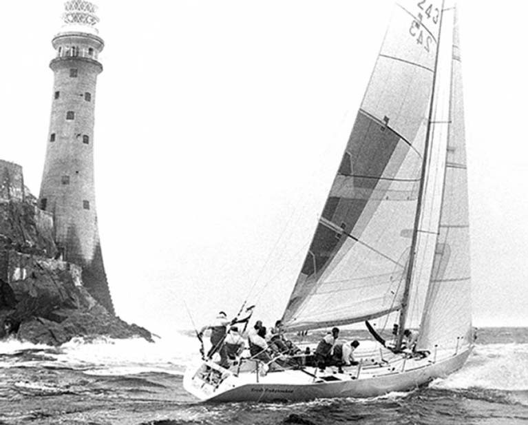 Monday 10th August 1987, and the Dubois 40 Irish Independent arrives at the Fastnet Rock, on her way to winning the Fastnet Race overall, and becoming top scorer for Ireland in the Admiral's Cup.