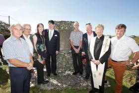 To mark the 75th anniversary, Ambassador Crawford (pictured with cap) unveiled a monument to the fallen airmen in Clifden