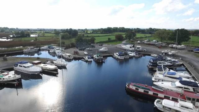 Cloondavaun Bay Marina near Portumna in Co Galway