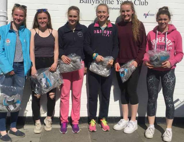 420 winners at Ballyholme YC: 1st Gemma McDowell and Emma Gallagher, Malahide YC 2nd Grace O'Beirne and Kathy Kelly, Royal St George YC 3rd Nicola and Fiona Ferguson National YC