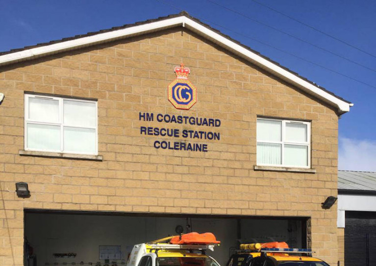 The HM Coastguard station in Coleraine