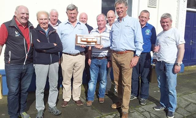 Flying fifteen Northern Championships prizewinners at Portaferry Sailing Club