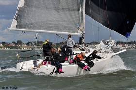 Action from last year's Dubarry Women's Open Keelboat Championships on the Solent at Hamble River Sailing Club
