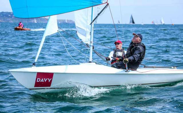 The top Irish boat at the County Down event was Dun Laoghaire's David Gorman and Chris Doorly (above) of the National Yacht Club in fourth overall.