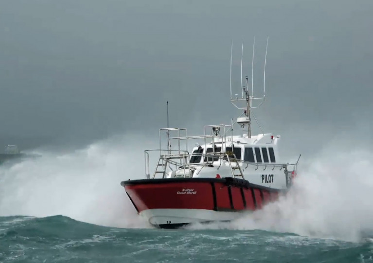 Svitzer's Oued Martil gets put through its paces in rough weather trials