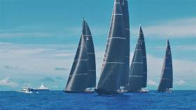 The J Class at sail off Bermuda for the America's Cup Superyacht Regatta
