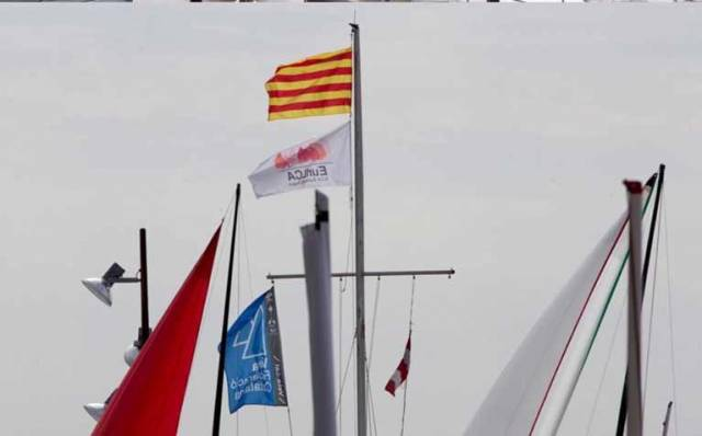 Racing was cancelled at the Laser Euros in Barcelona today