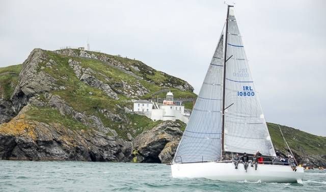 In Round Ireland Race divsion IRC 3, the brand new JPK1080 design of Rockabill VI (Paul O'Higgins) from the Royal Irish Yacht Club is lying third