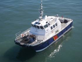 Wicklow based Alpha Marine's windfarm-support vessel, Island Panther has completed a survey charter in the North Sea