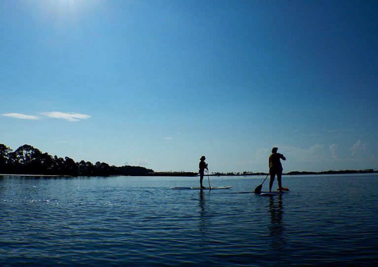 File image of stand-up paddleboarding in Florida, USA