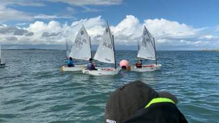 Optimist sailing off Howth on day two of the national championships