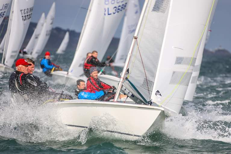 Windward leeward courses proved popular for the Flying Fifteens on Dublin Bay in 2020