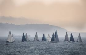 The start of ISORA Race Four from Dun Laoghaire to Pwllheli at 8am on Saturday morning