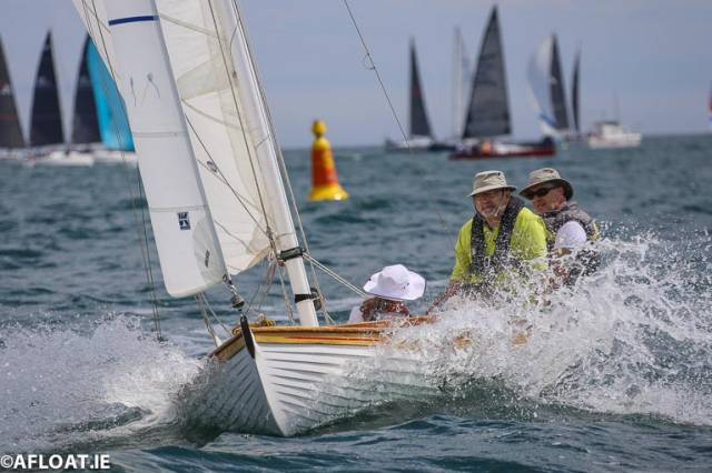Gaff-Rigged Colleens Racing as a Class on Dublin Bay