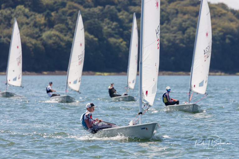 Youth Laser sailing in Cork Harbour