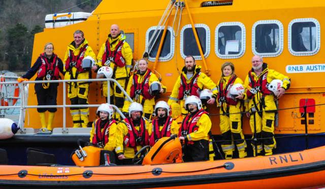 Lifeboat volunteers from Ballycotton RNLI and Crosshaven RNLI