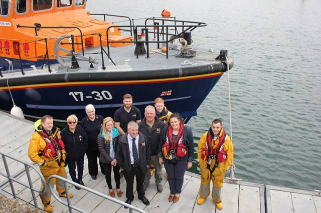 Claire Sugden, The Justice Minister, meets Portush Lifeboat volunteers