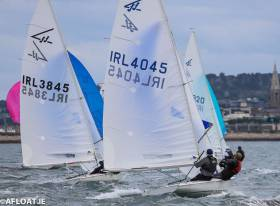 Gerry Ryan's Flying 15 4045 was the winner of the second DBSC race