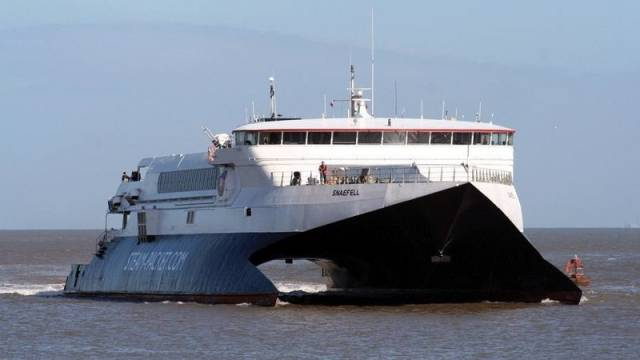 A facebook petition has been formed to campaign to restore the Fleetwood-Douglas (Isle of Man) ferry service. The Isle of Man Steam Packet used to operate the service and pictured above is their former fastcraft Snaefell.