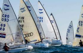 Each of the first two races of the Finn Euros started with one general recall and then the black flag