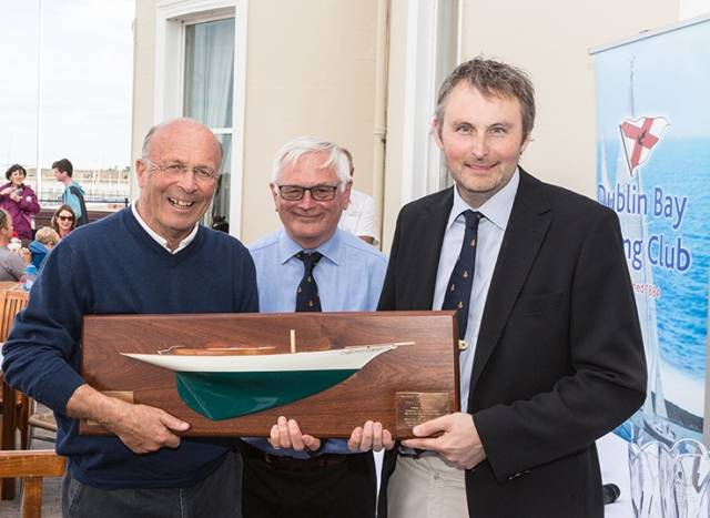 DBSC Commodore Chris Moore, Vice Commodore Jonathan Nicholson with J109 Skipper and Class One overall winner Tim Goodbody, winner of the Molly Bawn Perpetual Trophy