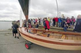 Wicked Sadie is launched on her maiden sail at Clontarf Yacht & Boat Club this past June