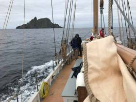 The Great Skellig as seen from the Limerick-bound ketch Ilen this (Saturday) afternoon