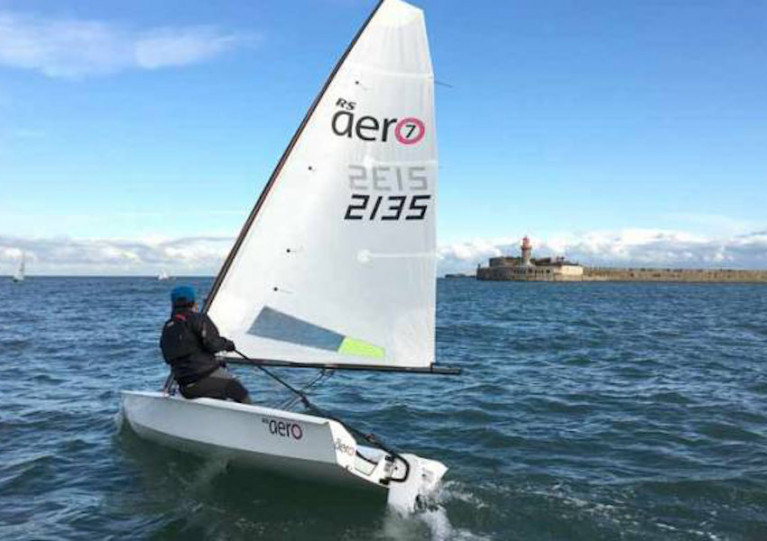 File image of an RS Aero sailing in Dun Laoghaire