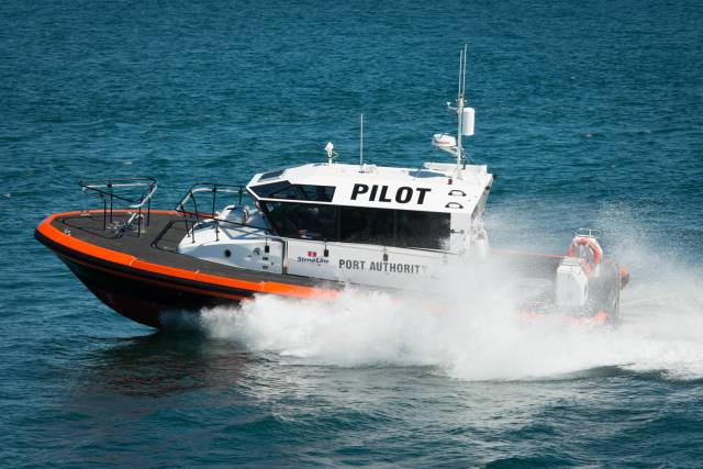 New pilot boat for the Port of Holyhead, the St. Columba will be used to transfer pilots and crew to ships (not ferries) but visiting cruiseships arriving and departing