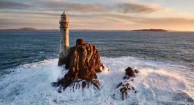 Unchanging icon? The Fastnet Rock with the coast of West Cork beyond.