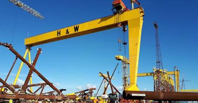 "Unite says UK shipyards like Belfast's Harland & Wolff should get work otherwise cranes could ""end up as tourist attractions"" if MoD contracts go overseas"